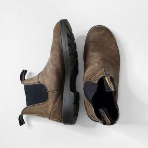BLUNDSTONES Men's Brown Leather Chelsea Boots